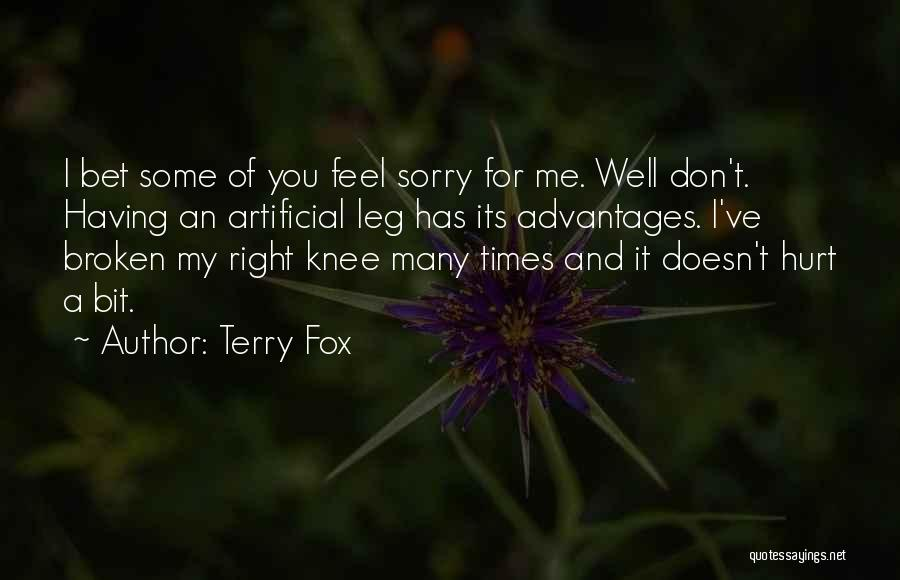 Hurt Knee Quotes By Terry Fox