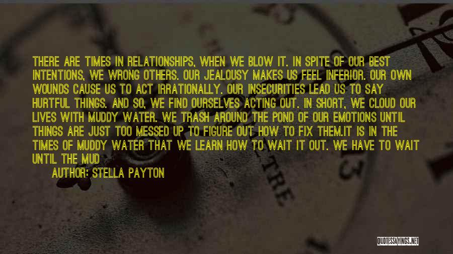 Hurtful Words And Actions Quotes By Stella Payton