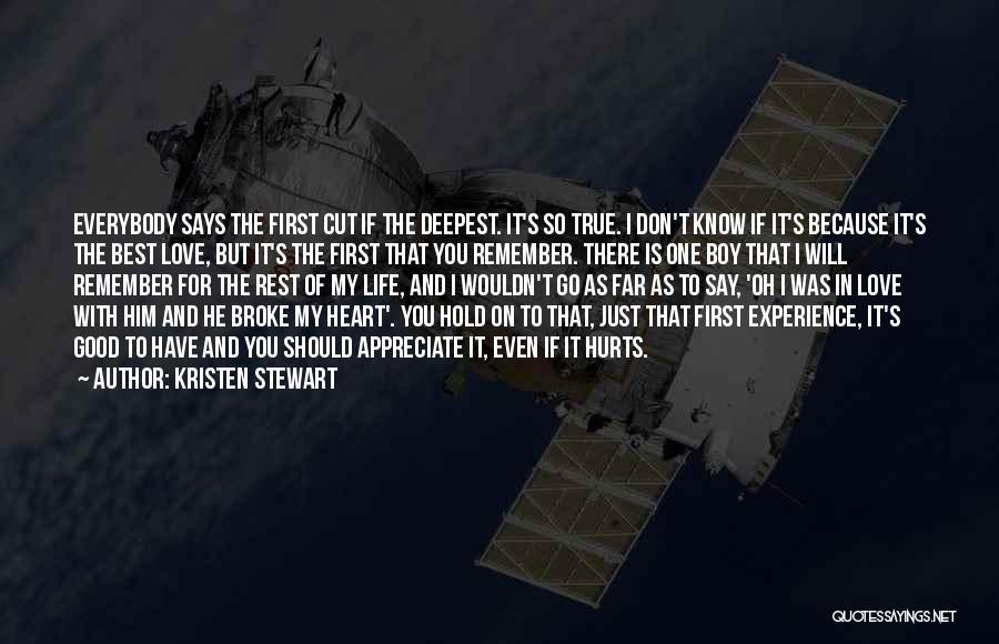 Hurts Quotes By Kristen Stewart