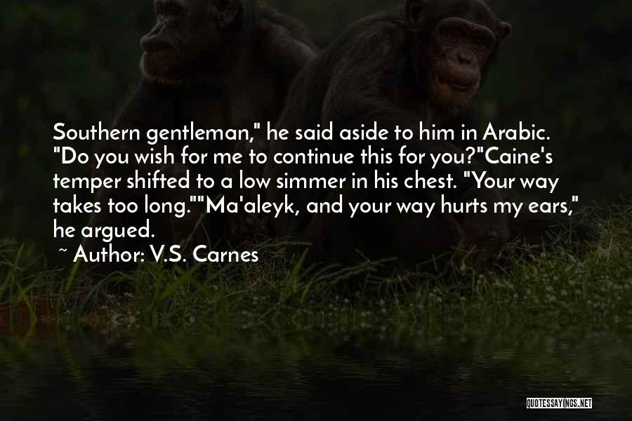 Hurts Quotes By V.S. Carnes