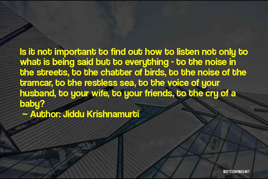 Husband Wife And Baby Quotes By Jiddu Krishnamurti