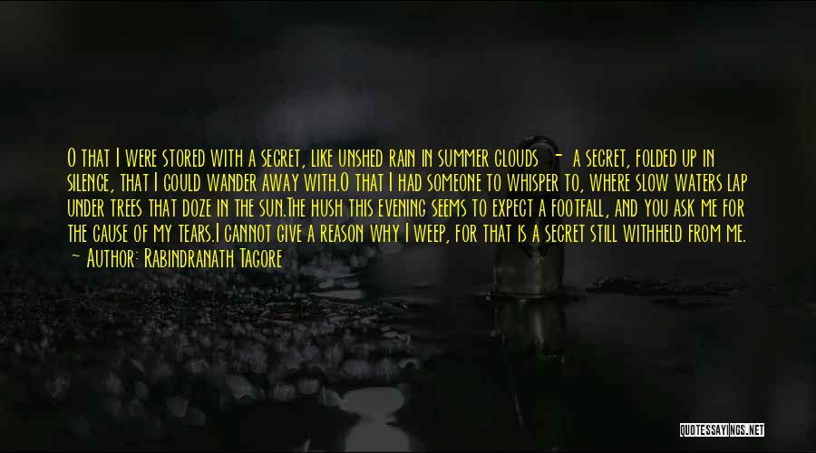Hush Hush Silence Quotes By Rabindranath Tagore