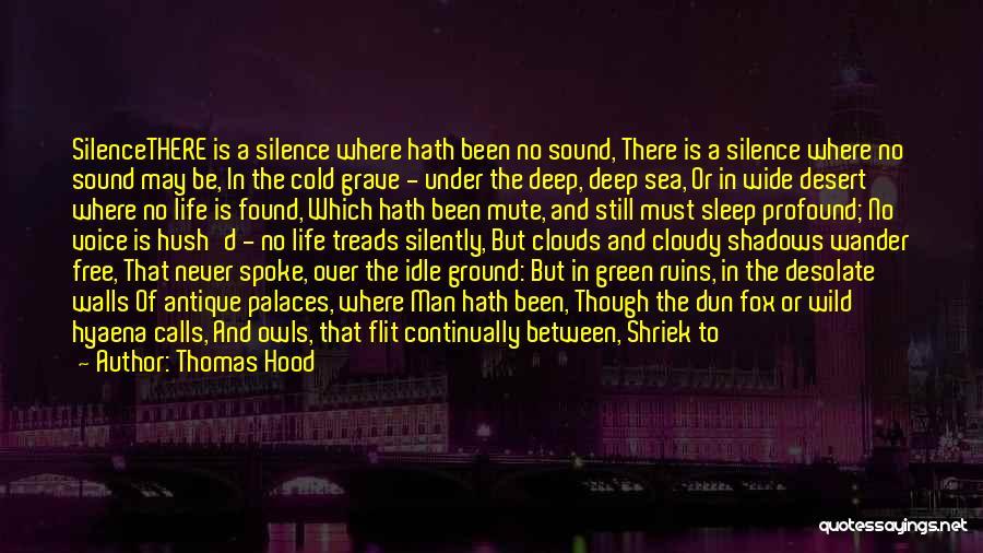 Hush Hush Silence Quotes By Thomas Hood