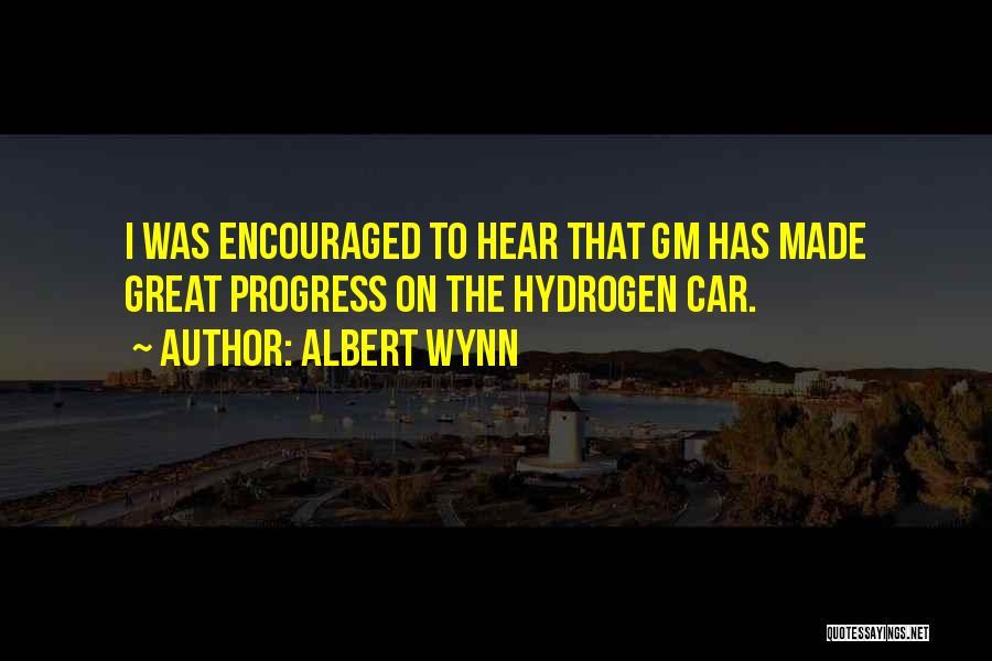 Hydrogen Car Quotes By Albert Wynn