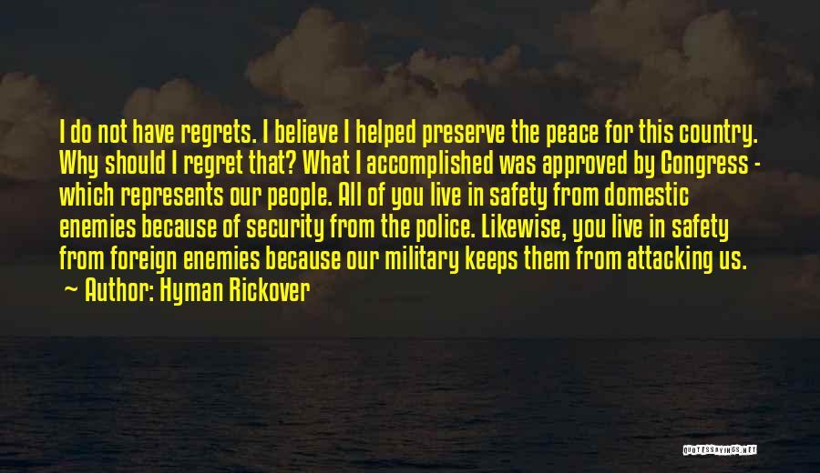 Hyman Rickover Quotes 1986753
