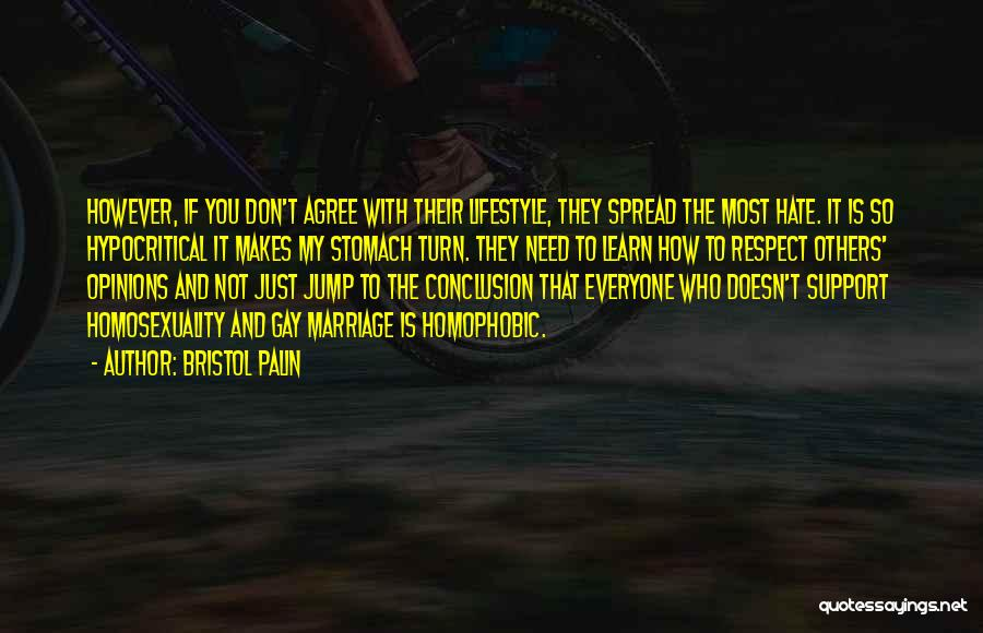 Hypocritical Quotes By Bristol Palin