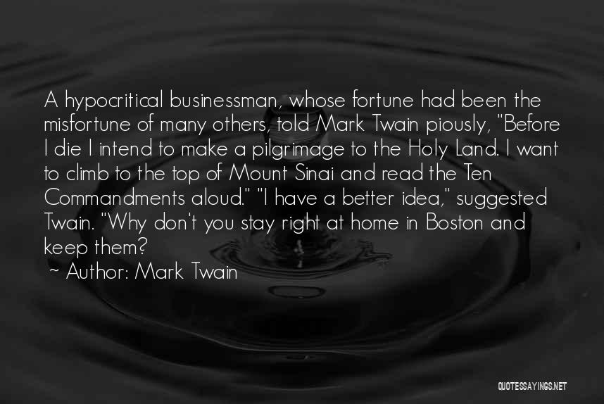 Hypocritical Quotes By Mark Twain