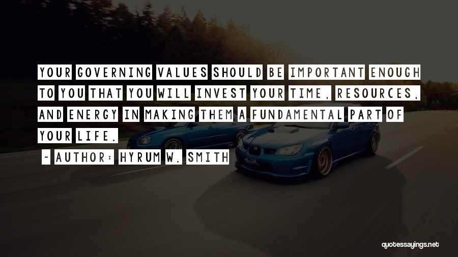 Hyrum W. Smith Quotes 670597