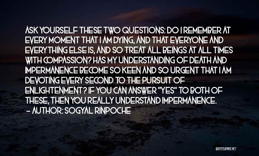 I Am Dying Every Second Quotes By Sogyal Rinpoche