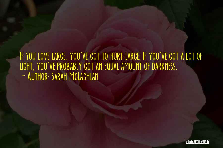 I Am Hurt But I Still Love You Quotes By Sarah McLachlan