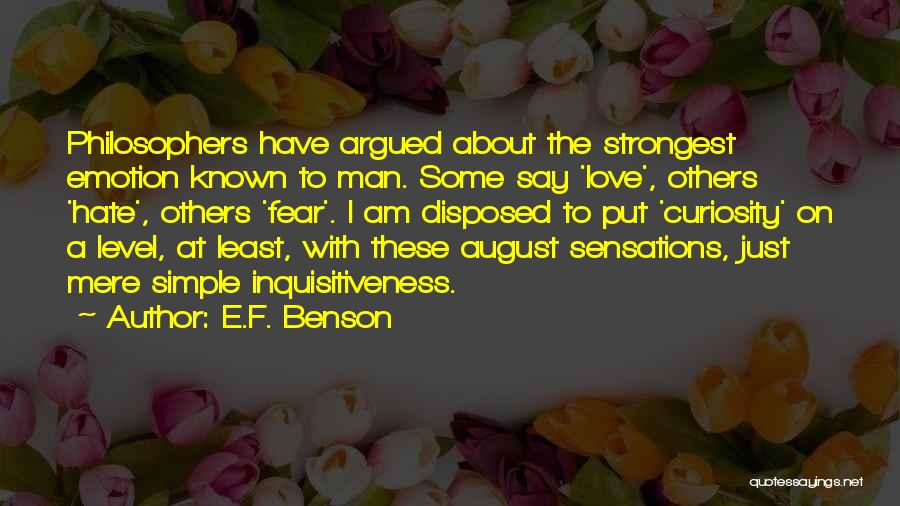 I Am Just Simple Quotes By E.F. Benson