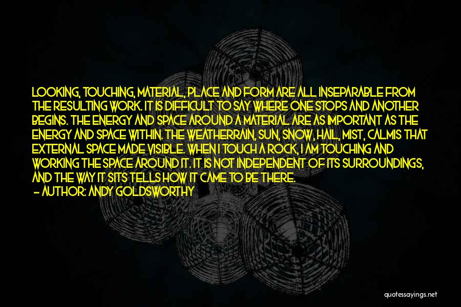 I Am Looking Quotes By Andy Goldsworthy