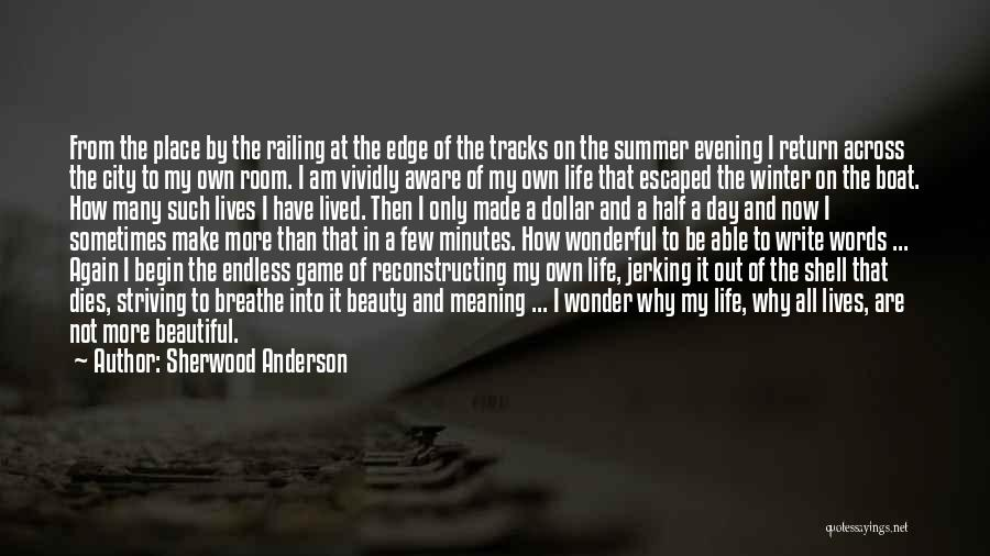 I Am Not A Game Quotes By Sherwood Anderson
