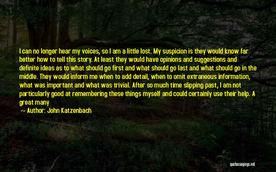 I Am Not Crazy Quotes By John Katzenbach