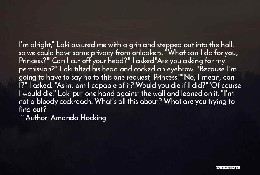 I Am Not Princess Quotes By Amanda Hocking
