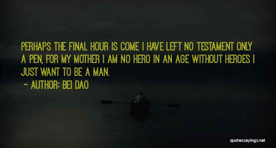 I Am Only A Man Quotes By Bei Dao