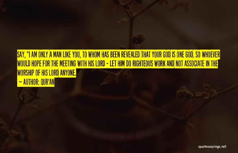I Am Only A Man Quotes By Qur'an