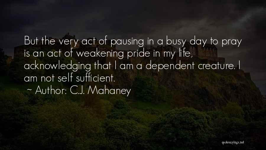 I Am Self Sufficient Quotes By C.J. Mahaney