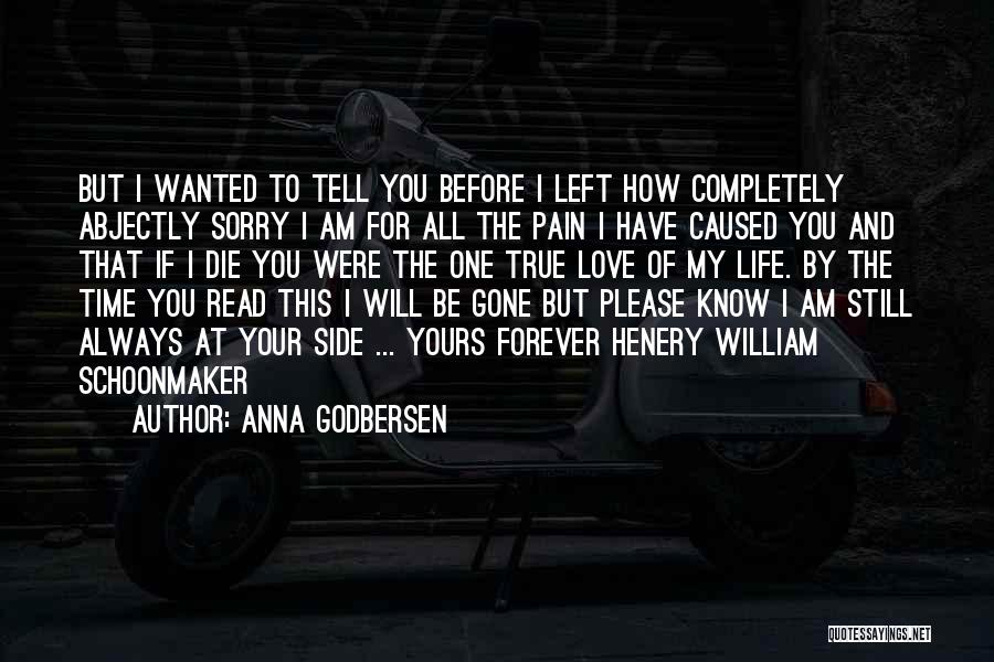 I Am Sorry Love Quotes By Anna Godbersen