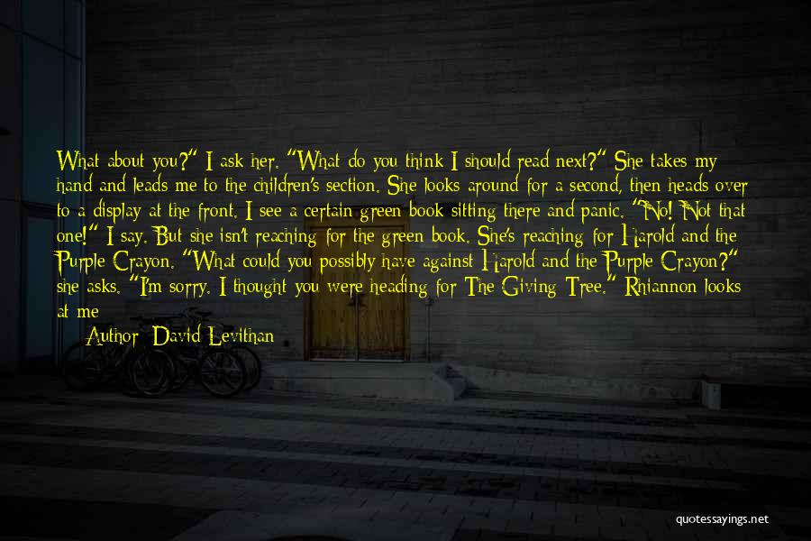 I Am Sorry Love Quotes By David Levithan