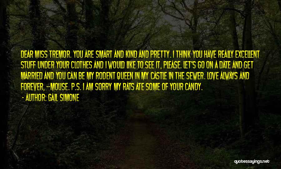 I Am Sorry Love Quotes By Gail Simone