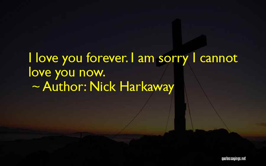 I Am Sorry Love Quotes By Nick Harkaway