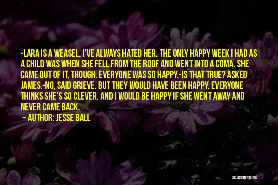 I Am Weasel Quotes By Jesse Ball