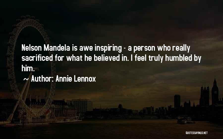 I Believed Him Quotes By Annie Lennox