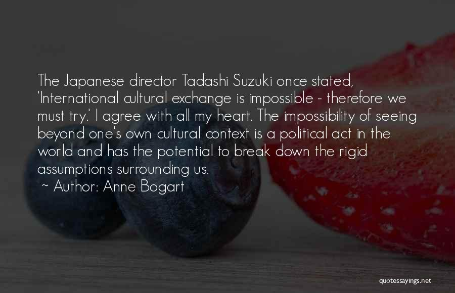 I Break Down Quotes By Anne Bogart