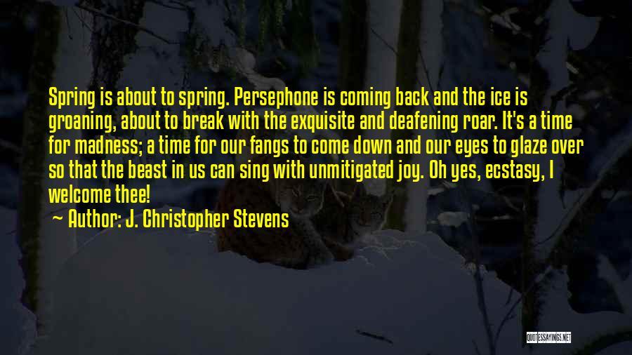 I Break Down Quotes By J. Christopher Stevens