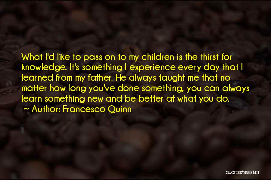I Can Always Do Better Quotes By Francesco Quinn