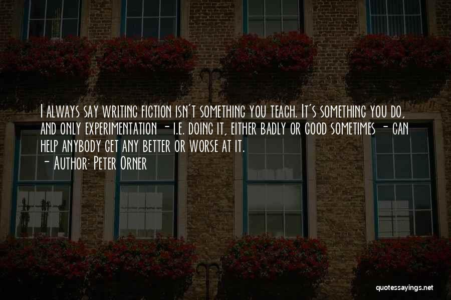 I Can Always Do Better Quotes By Peter Orner