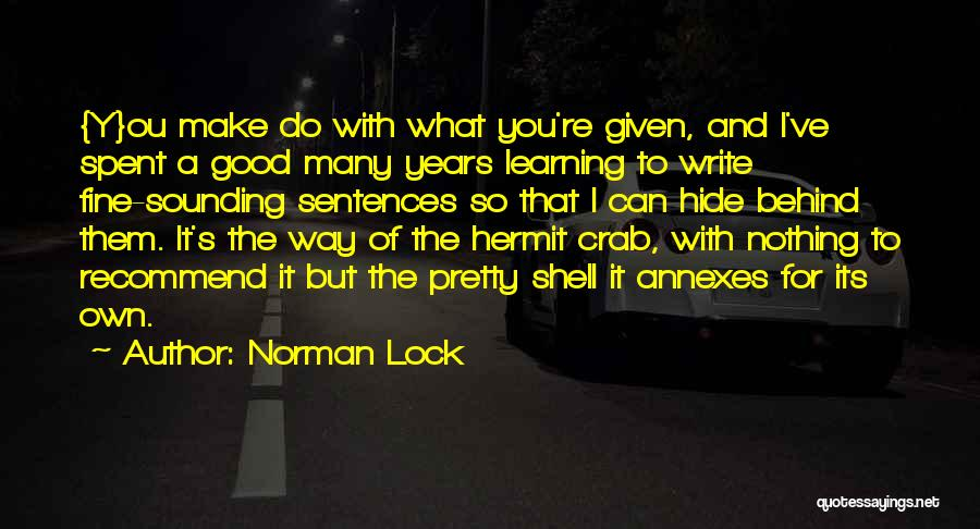 I Can Make Quotes By Norman Lock