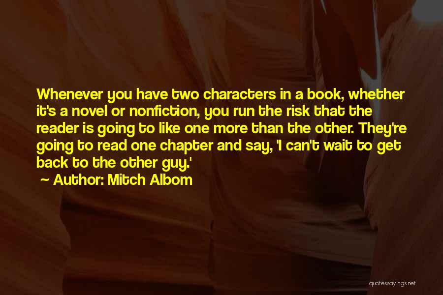 I Can Read You Like A Book Quotes By Mitch Albom