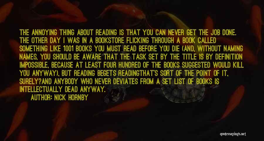 I Can Read You Like A Book Quotes By Nick Hornby
