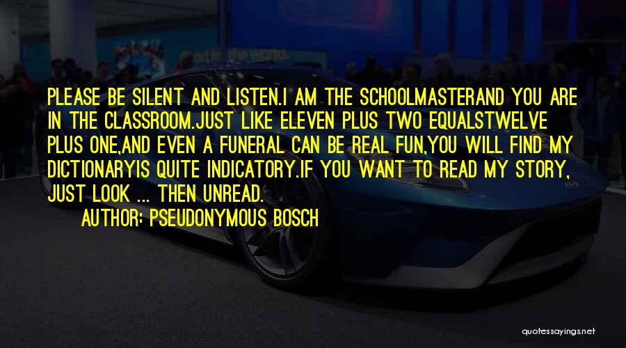 I Can Read You Like A Book Quotes By Pseudonymous Bosch