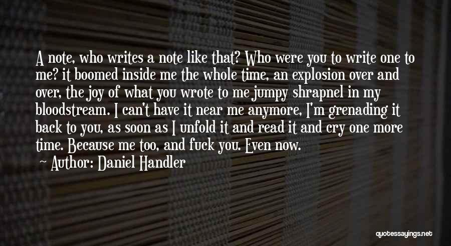 I Can't Cry Anymore Quotes By Daniel Handler