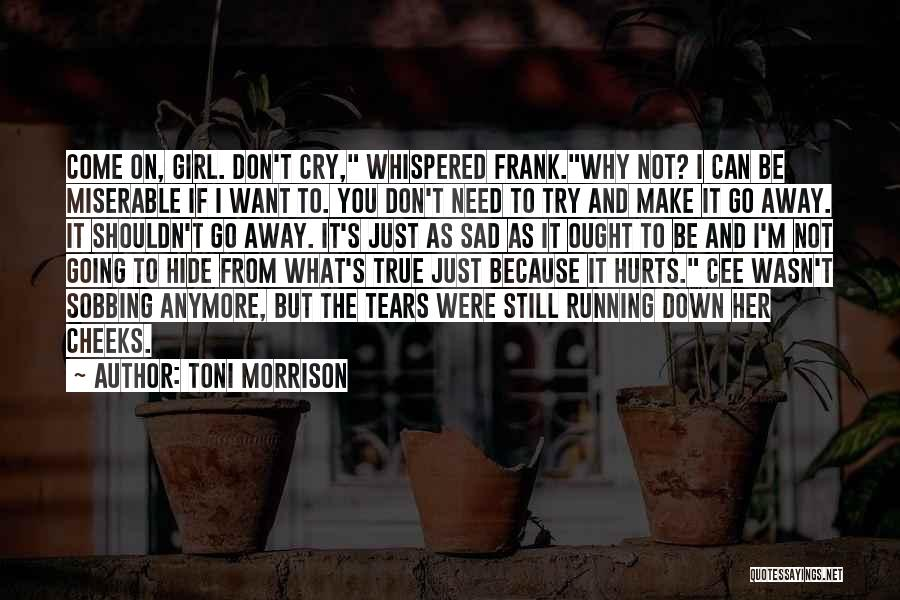 I Can't Cry Anymore Quotes By Toni Morrison