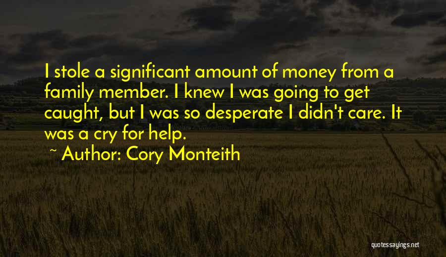 I Can't Help But Cry Quotes By Cory Monteith