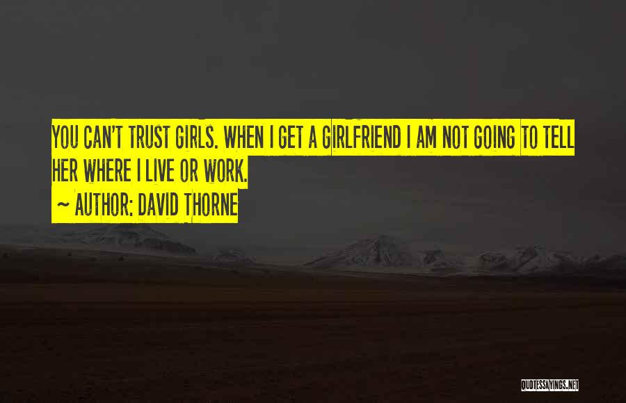 I Can't Trust My Girlfriend Quotes By David Thorne