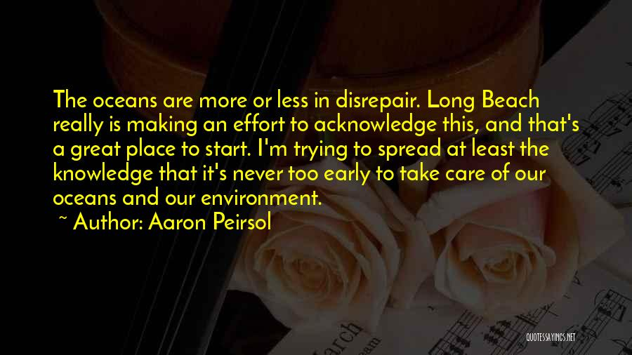 I Care Less Quotes By Aaron Peirsol