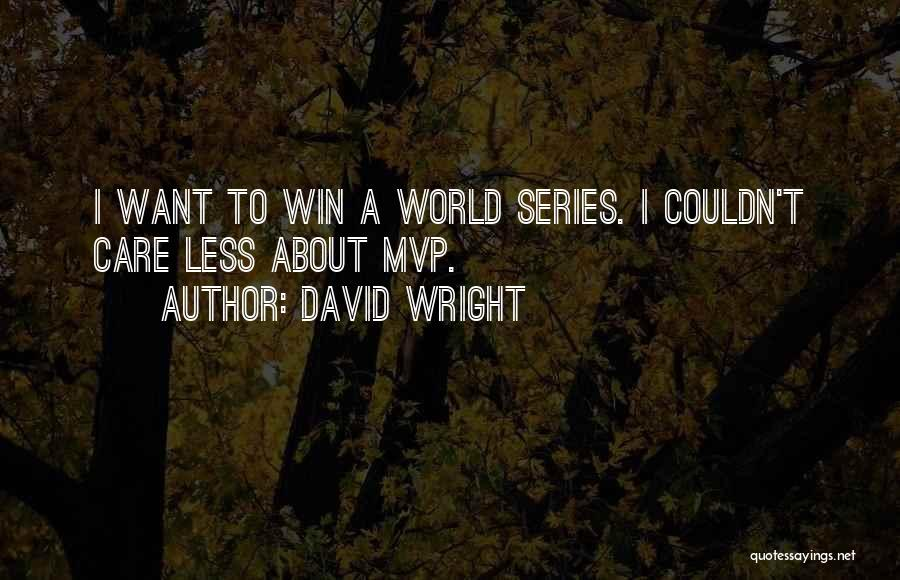 I Care Less Quotes By David Wright