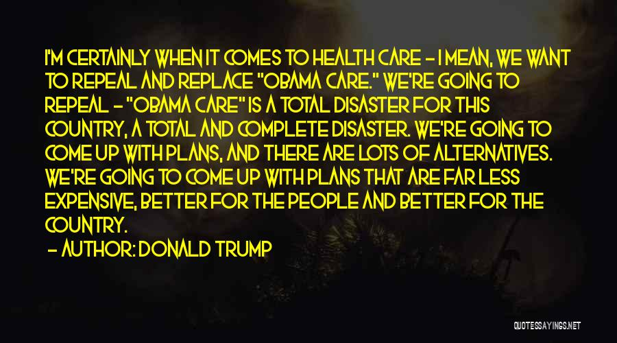 I Care Less Quotes By Donald Trump