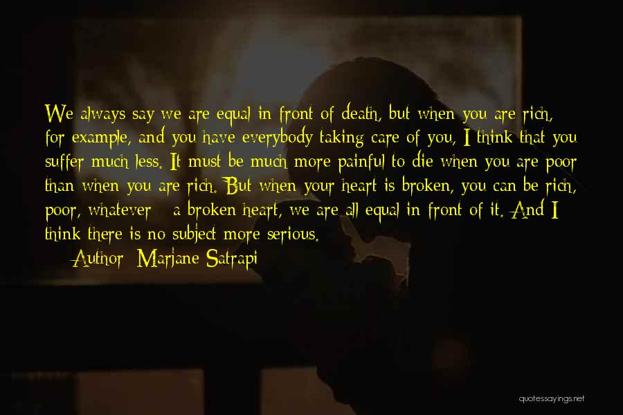 I Care Less Quotes By Marjane Satrapi