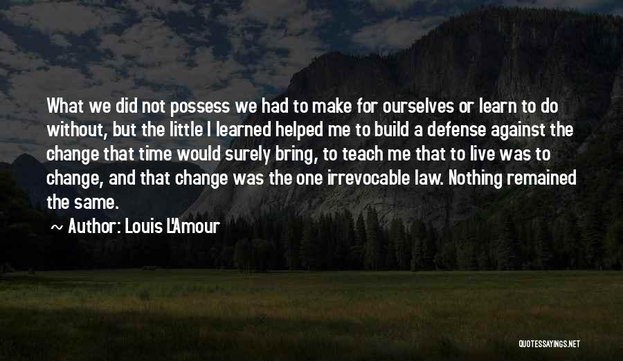 I Did Not Change Quotes By Louis L'Amour