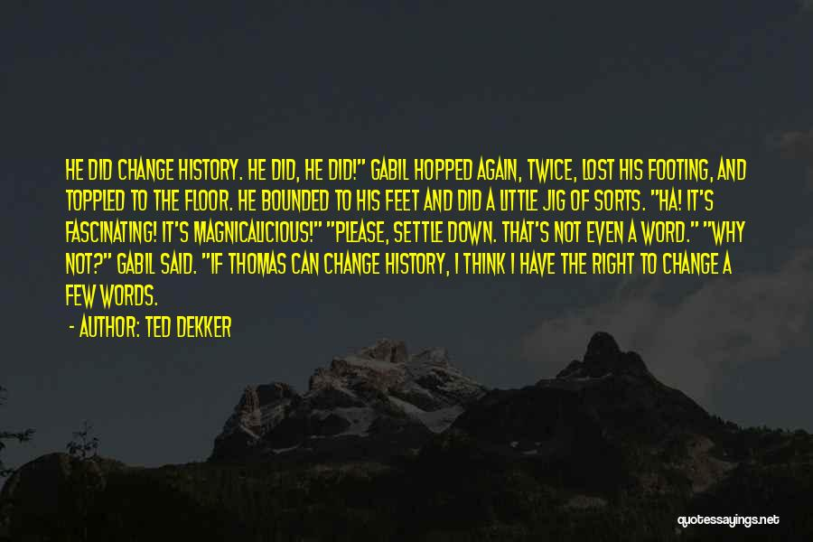 I Did Not Change Quotes By Ted Dekker