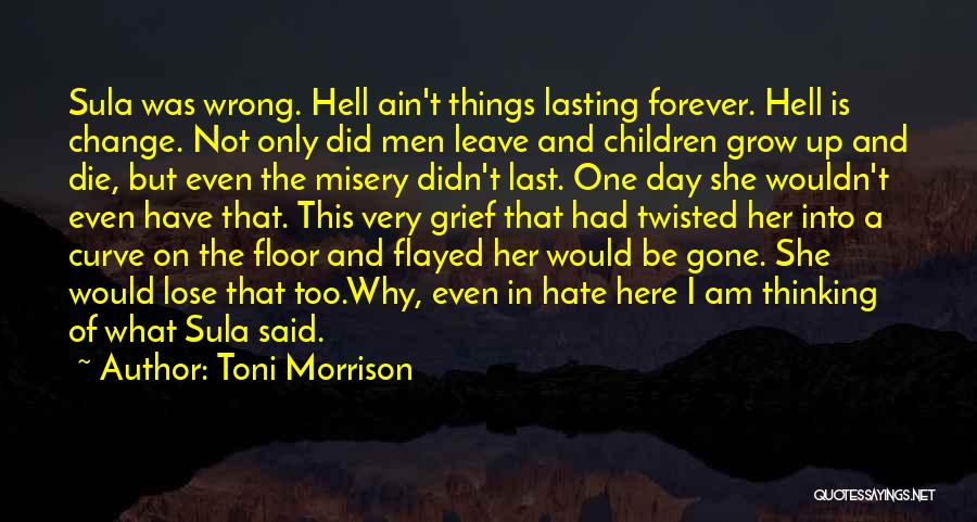 I Did Not Change Quotes By Toni Morrison