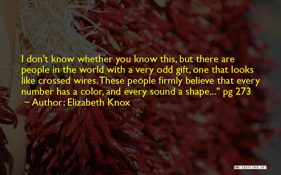 I Don Believe In Quotes By Elizabeth Knox