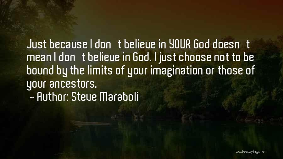 I Don Believe In Quotes By Steve Maraboli