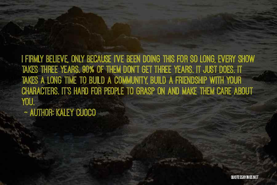 I Don't Believe You Quotes By Kaley Cuoco